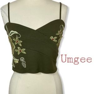 Umgee embroidered crop top